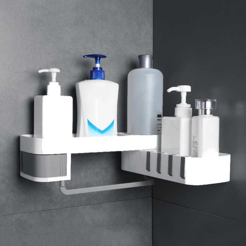 Угловой стеллаж для хранения держатель полка ванной комнаты самоклеющийся