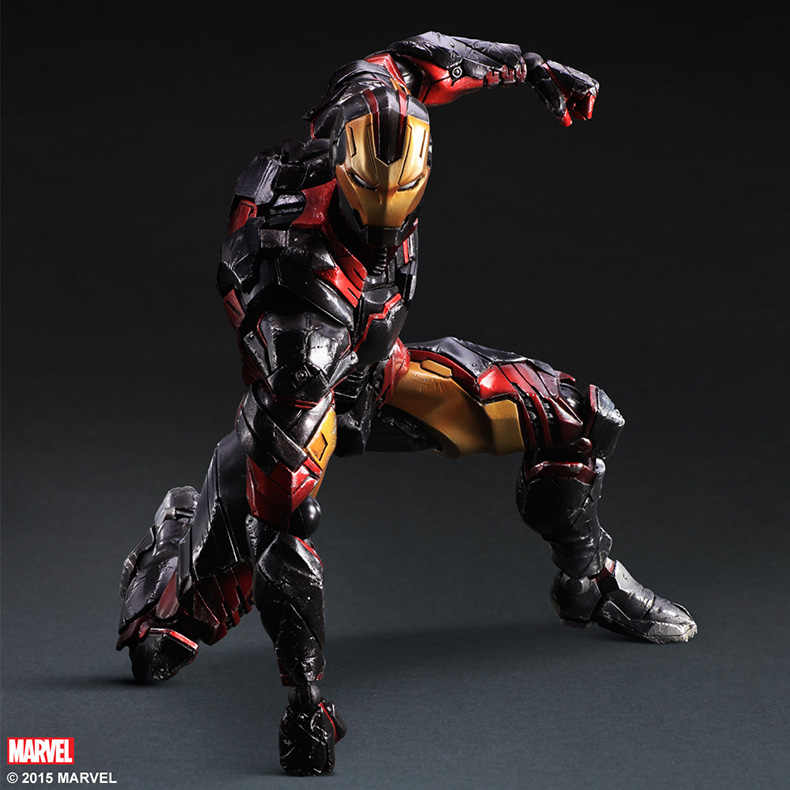 Wariant Play Arts Kai Iron Man pcv figurka-Model kolekcjonerski Toy