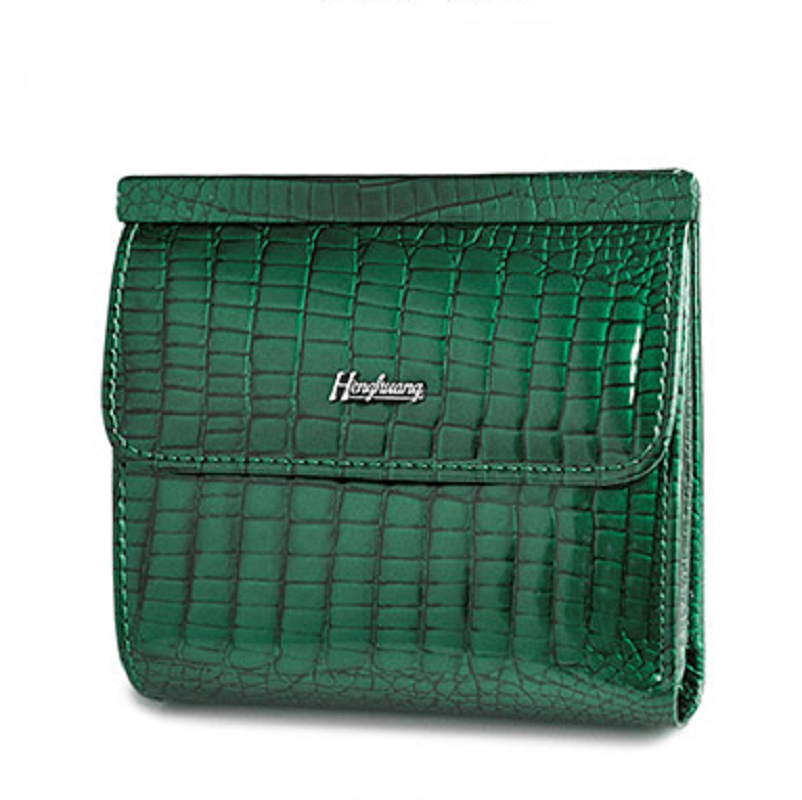 2019 Fashion Mini Wallet Women Genuine Leather Wallets New Alligator Hasp Short Wallet Female Small Woman Wallets Purses