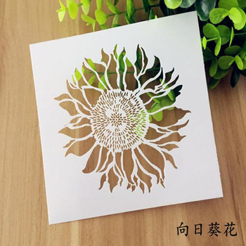 Stencil Painting Bullet Journal Accessories Sunflower Flower Template Wall Scrapbooking Photo Album Embossing Paper Cards White free shipping stencil painting template stamps diy scrapbooking photo album cards decorative embossing cake fondant cupcake tool