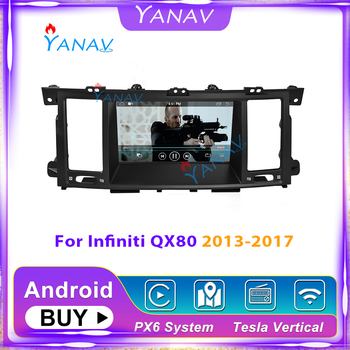 car GPS DVD player for-Infiniti QX80 2013-2017 car stereo Android multimedia radio navigation video HD screen player Tesla style image