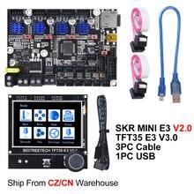 Плата управления сенсорным экраном BIGTREETECH SKR MINI E3 V2.0 + TFT35 E3 V3.0, запасные части для 3D принтера Creality Ender 3 Upgrade CR10