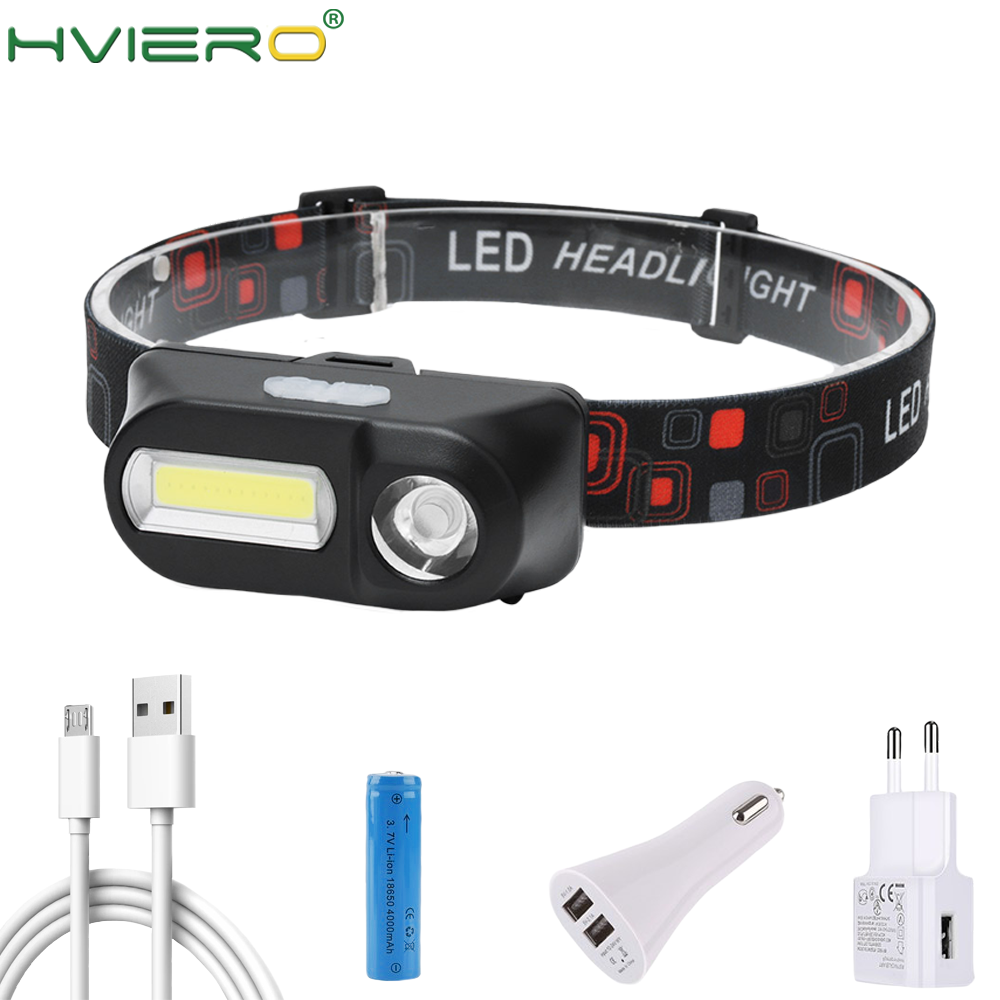 50000LM USB Rechargeable COB LED Headlamp Headlight Head Torch Camping 3 Modes