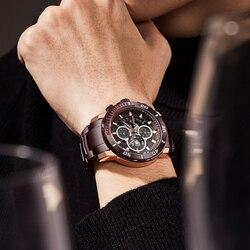 NAVIFORCE Top marka zegarki męskie luksusowe Bussiness zegarek kwarcowy mężczyźni wojskowy Sport Wrist Watch zegar mężczyzna Relogio Masculino 2020