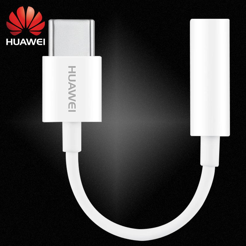 Original Huawei USB Type C 3.5mm Earphone Jack Aux Audio Cable Adapter Headphone For P30 P20 Pro MATE 10 20 RS X Honor Converter