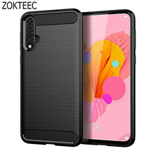 ZOKTEEC Case for Huawei Nova 5 Case Cover Shockproof Protective Cover Carbon Fiber Silicone Case for Huawei Nova 5 5i Pro Case блендер kitfort kt 1362 steel