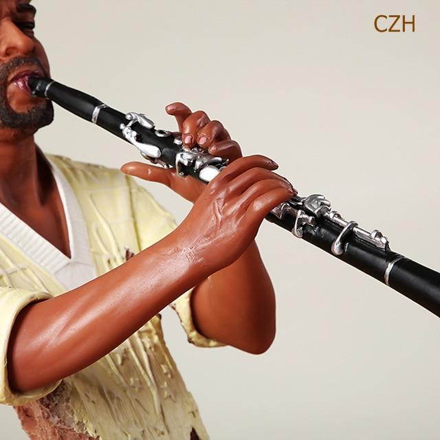 Handmade Abstract Clarinet Player Statue