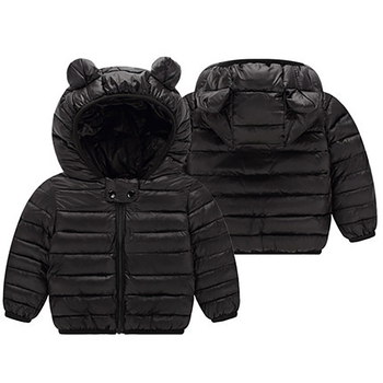 1 2 3 4 Years Baby Boys Girls Clothes Jackets Hooded Zipper Coat Autumn Winter Warm Fashion Outwear Jackets Children's Clothing 1