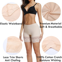 New Women Safety Pants Plus Size Seamless Mid Waist Elastic Under Skirt Lace Underwears Female Breathable Tights Briefs Slimming