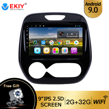 EKIY 9 IPS Quad-Core DVD Car Radio For Renault Captur CLIO 2011-2018 Android 9.0 2din Multimedia Video Player Wifi OBD2 Canbus image