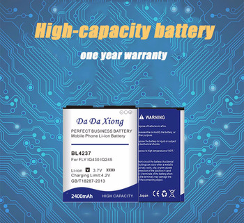 Da Da Xiong 2400mAh BL4237 Battery for FLY IQ245 IQ246 IQ430 For Wiko OZZY / Explay N1 Phone battery image
