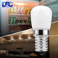 2 uds LED Luz de refrigerador bombilla E14 3W refrigerador bombilla de maíz 220V LED de la lámpara blanca/caliente blanco SMD2835 reemplazar la lámpara de halógeno Luz