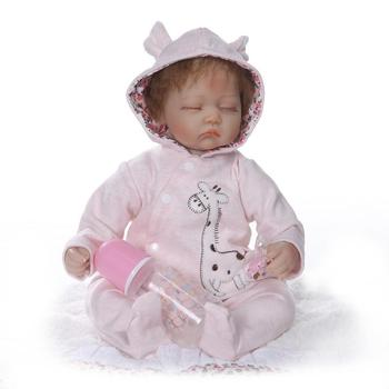 Full Soft Silcone Cloth Body Model Infant Doll Cute Play House Toys Gift Hot Selling Best Seller