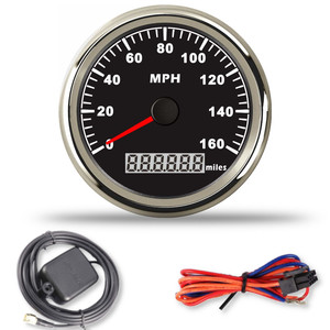 Image 5 - Car Digital 85mm GPS Speedometer Motorcycle gps speed meter 0 160MPH for Marine Boat Yacht With Red Backlight Fit for BMW e53