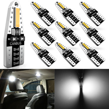 Katur 10x W5W T10 LED Canbus Car Light Bulbs For BMW VW Mercedes benz Ford Interior Dome Trunk Lamp Parking Lights Error Free