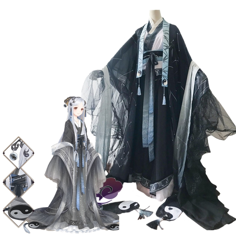 Jeu Miracle Nikki Cosplay Costume Yin Yun fée Style chinois mignon robe Halloween Costumes de noël pour les femmes robe chapeaux