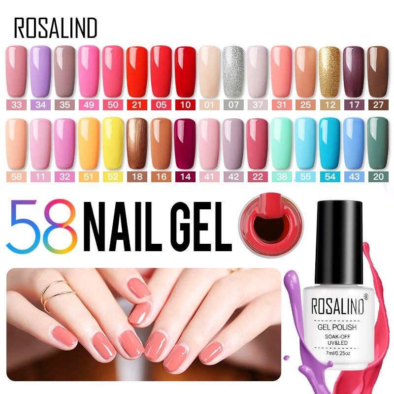 ROSALIND Hybrid Varnishes Gel Nails Polish All For Manicure Semi Permanent Nail Art Gellak UV Nail Gel Vernis Design Top Coat