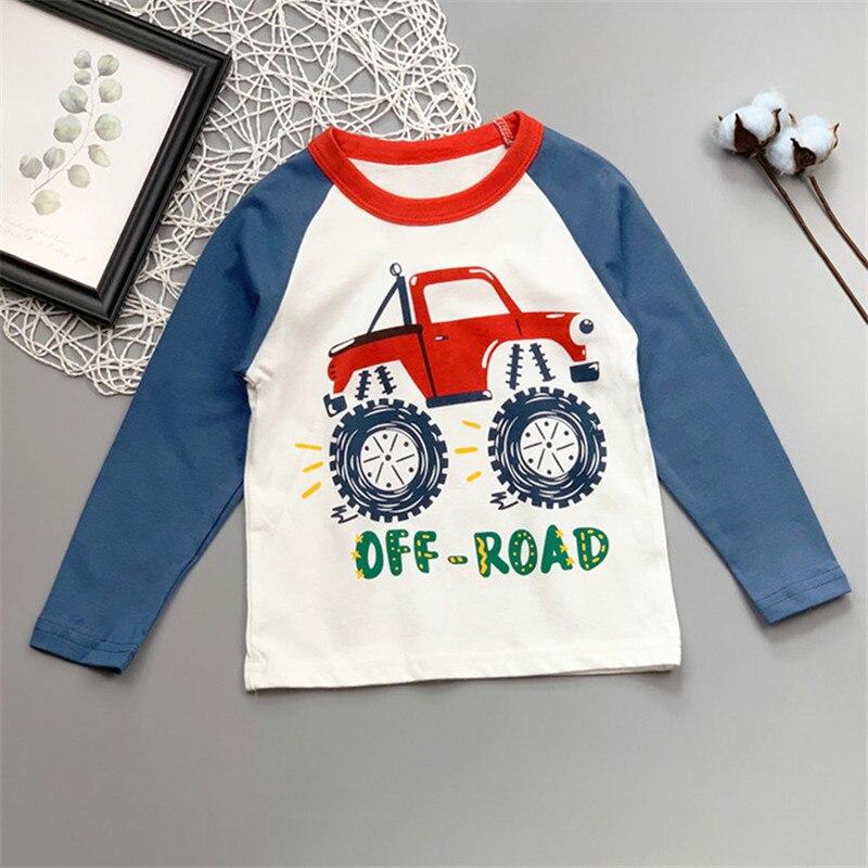 PatPat/2020 Новое поступление, осенне Весенняя футболка с длинными рукавами и принтом машинки для маленьких мальчиков, топы с длинными рукавами для маленьких мальчиков|Футболки| | АлиЭкспресс