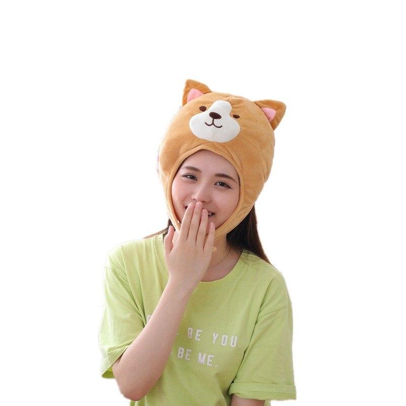 Cute Keki Dog Hat Plush Toy Doll Doll Funny Hat Children Plush Birthday Toy Gift Hat Girl