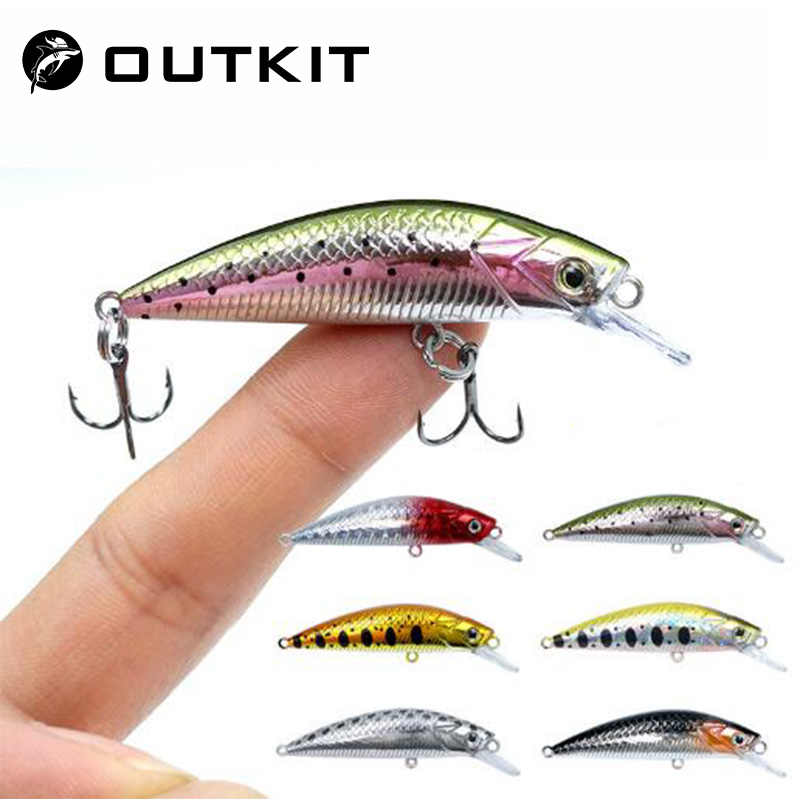 Neue 5cm 6g Minnow Stream Angeln Locken Mini Trout Köder Kleine Whopper Vibrierende Licht Sinkende Crankbait Japan winter Tackle