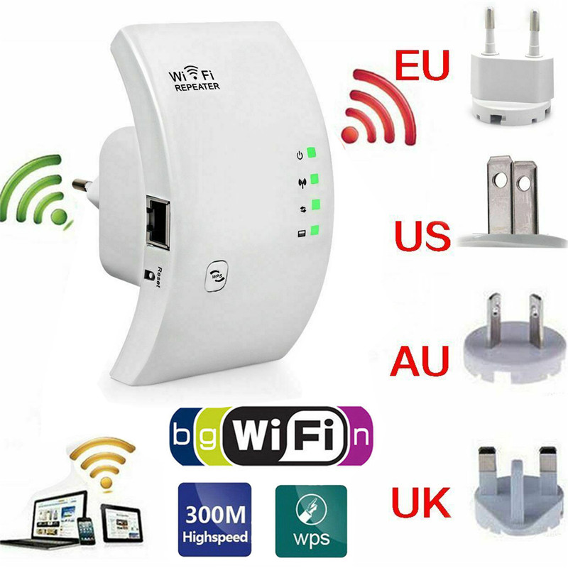 2.4G Wireless WIFI Repeater 300Mbps Wifi Extender Long Range Wifi Signal Amplifier Wi-fi Booster Access Point Wlan Repeater