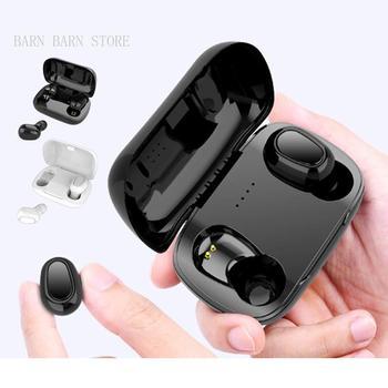 Auriculares L21 con Bluetooth HIFI, auriculares inalámbricos con sonido, auriculares manos libres, auriculares estéreo para videojuegos para teléfonos inteligentes iphone y Samsung