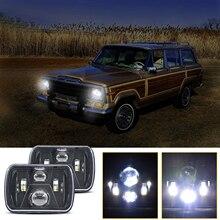300W 5X7 7X6 מקרן LED פנס DRL H4 Harnes עבור ג יפ צ רוקי XJ רנגלר YJ Comanche MJ פורד שברולט GMC Savana ספארי