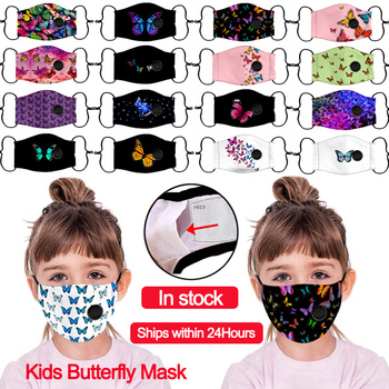Scarf Fashion Cartoon Reusable Children M-a-s-k For kids 2020 Breath Valve Mouth Butterfly Print Facemask kids Washable M-a-s-k платье m a k you are beautiful m a k you are beautiful mp002xw1hfd1