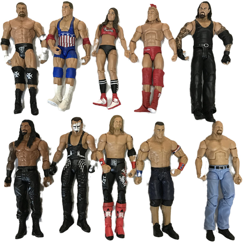 1/10 scale <font><b>action</b></font> <font><b>figure</b></font> wrestler characters PVC <font><b>body</b></font> head Model occupation gladiators figurine collectible Toy gift for kids image