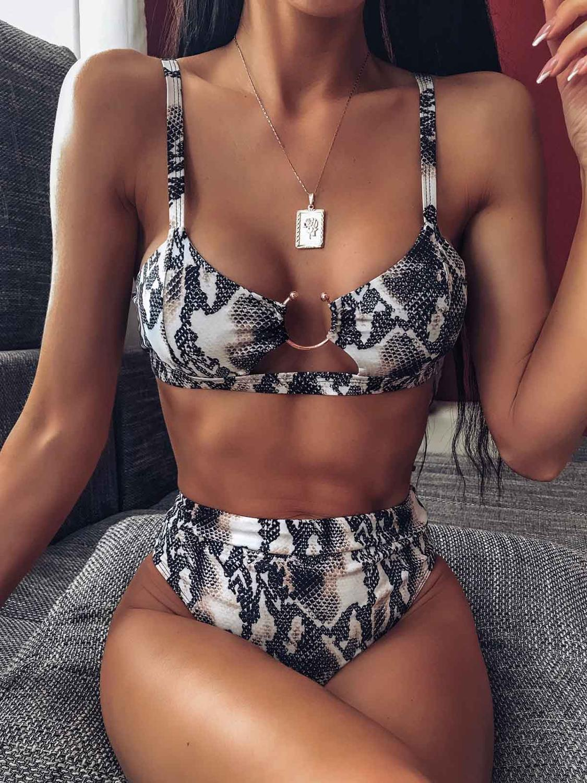 Bikini Swimsuit Biquini Thong Bandeau Sexy High-Waist Women Brazilian