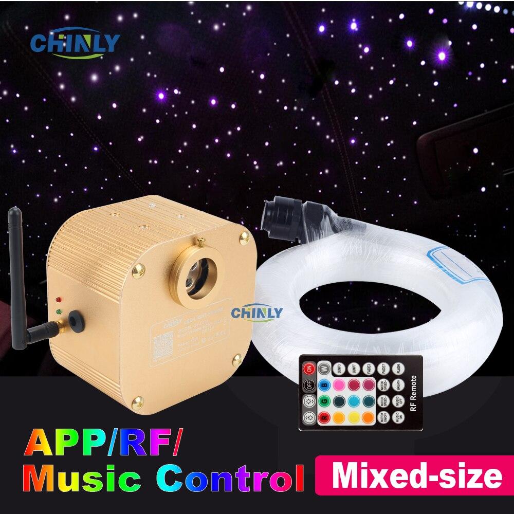 Fiber Optic Light 16W Twinkle Bluetooth APP Smart Control Starry Music Control Car Star LED Light Kid Room Ceiling Lighting