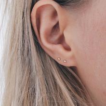 Laramoi Simple Stud Earrings Women Korean Geometric Stainless Steel Earings Fashion Jewelry Wholesale Dropshipping cheap CN(Origin) Ball Classic Metal YE13165435 Push-back Gold Silver Rose Gold 1 pair Geometric Earrings