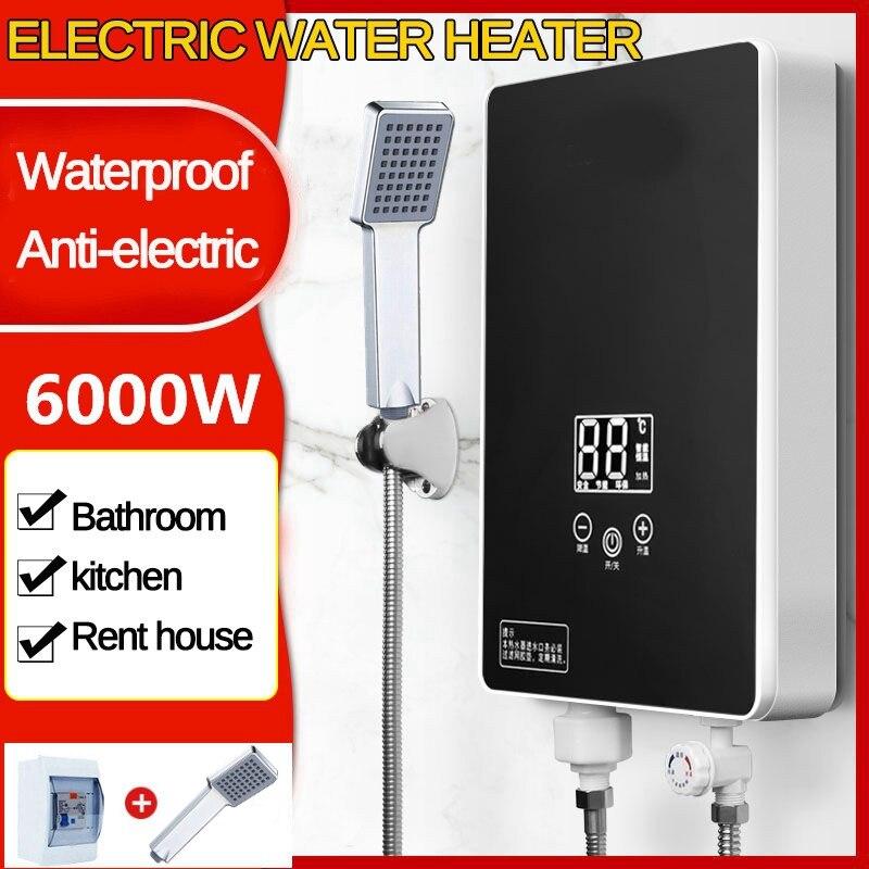 Elektrisch Heater Durchlauferhitzer Tankless Dusche Warmwasser Set Heizung DHL