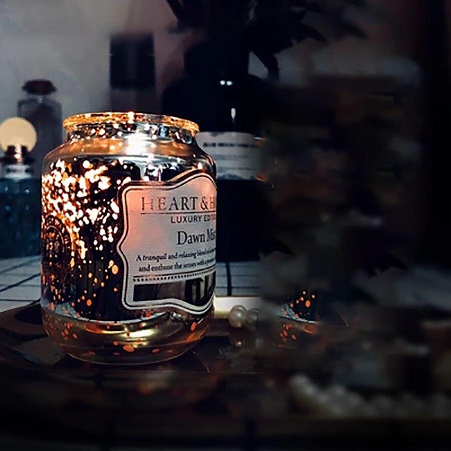 Photophore de soja en verre romantique fête de mariage cire cadeau bougies parfumées fête d'anniversaire noël Velas Decorativas QLB093