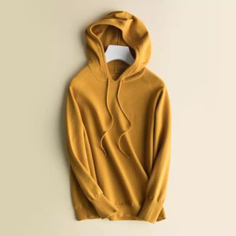 Women 39 s Simple Hoodies Autumn Winter New Bottoming Shirt Thick Hooded Top Hoodie Short Coat Female Knitted Hoodies in Hoodies amp Sweatshirts from Women 39 s Clothing