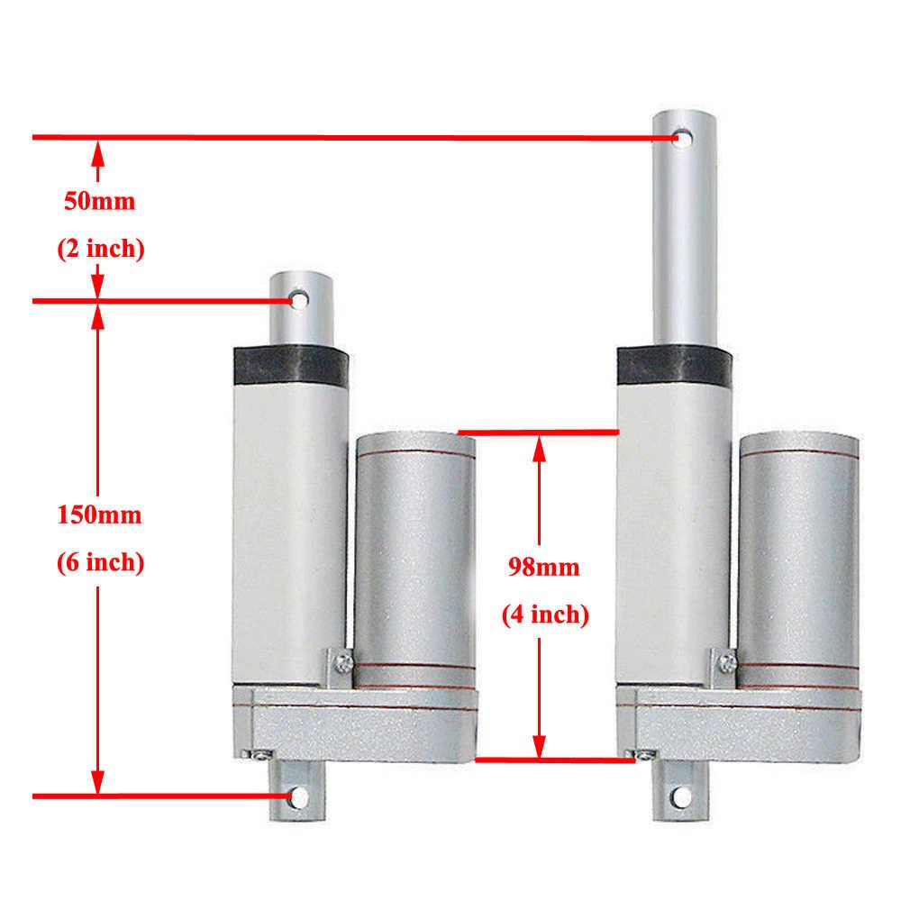 """Gran resistencia 1500N cc 12V 50mm 2 """"de carrera actuador lineal 5,7 mm/s Spd abridor de puerta de Motor soportes cama herramientas de mesa elevadora"""