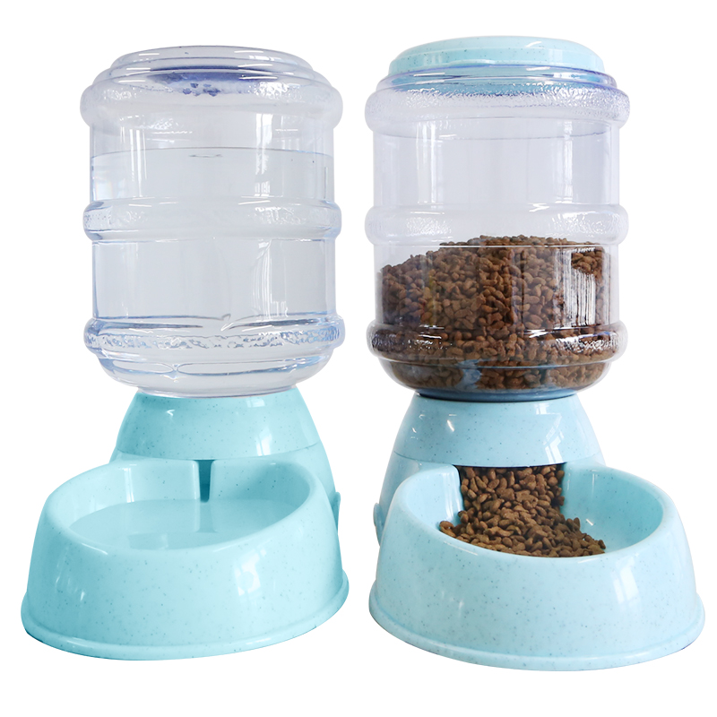 Water Dispenser Dog Feeder Automatic Accessories Dog Treat Food Dispenser Snacks Puppy Bowl Ciotola Cane Pet Products XX50DF