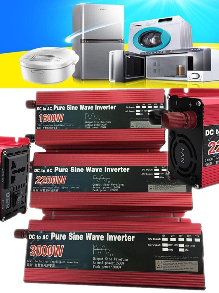 Sine-Wave-Inverter Voltage-Transformer-Power 110V 220V Pure 2200W/3000W 12V/24V AC To