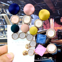 Hairpins Hair Clips Korea Spring Fashion Accessories Round Wafer Opal Stone  Ins Trendy Clip Gifts
