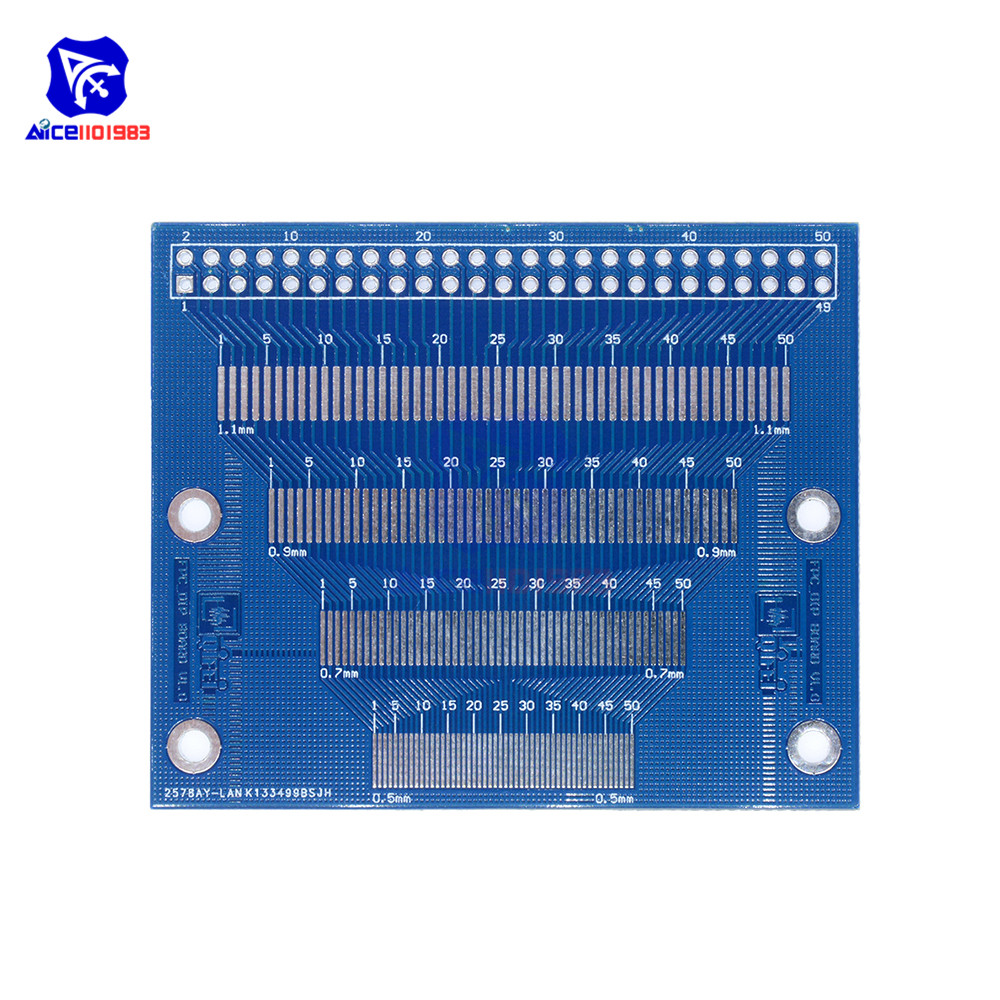 2PCS 0.5//0.7//0.8//1.0mm Pitch TFT LCM LCD Adapter Board FPC module SMD DIP