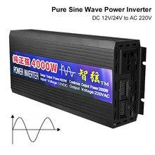 Onduleur à onde sinusoïdale Pure DC 12V 24V à ca 220V convertisseur de tension 2000W 3000W 4000W puissance onduleur à énergie solaire de voiture à onde sinusoïdale Pure