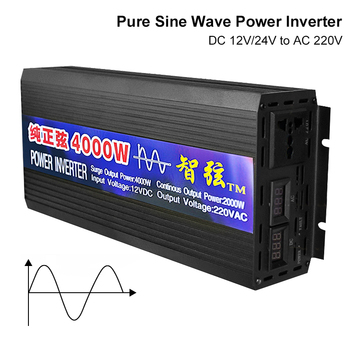 Pure Sine Wave Inverter DC 12V 24V To AC 220V Voltage Converter 2000W 3000W 4000W Power Pure Sine Wave Car Solar Energy Inverter powmr solar inverter 3kva 24v 220v 110v hybrid inverter pure sine wave built in 50a pwm solar charge controller battery charger