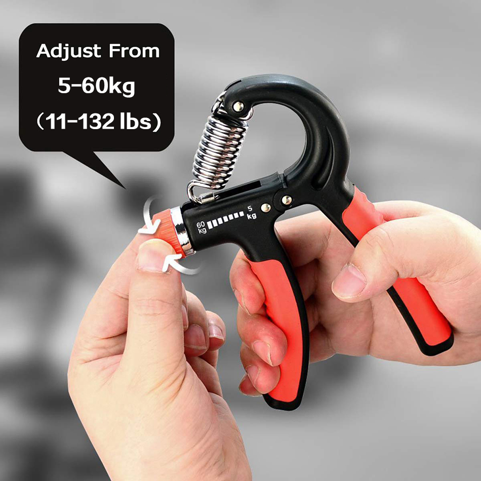 WorthWhile 5-60Kg Gym Fitness Hand Grip Men Adjustable Finger Heavy Exerciser Strength for Muscle Recovery Hand Gripper Trainer 3