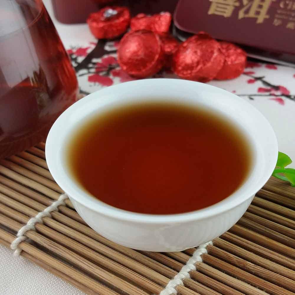 2019 Yr Rose Mini Ripe Pu-erh Tuocha, Yunnan Shu Pu-erh Pu-erh Gift Packing 75g 6