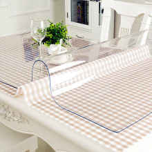 PVC Tablecloth Rectangular Table-1.0mm Transparent Kitchen Waterproof with