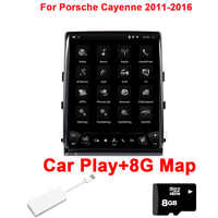 10,4 Auto Spielen Android 7.1 Auto DVD player Für Porsche Cayenne Macan Panamera 2011-2016 Wifi Faser GPS Navigation radio stereo