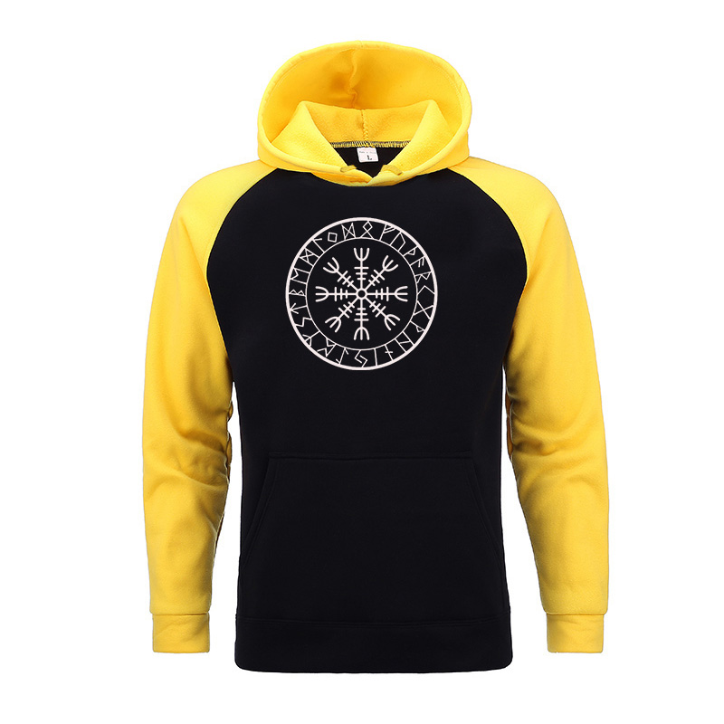 Viking Compass Sons Of Anarchy Hoodies Mens Sweatshirts 2020 Male Winter Gone to Valhalla Raglan Hoodies Sportswear Male Hoody