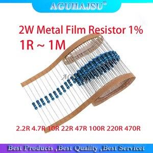 20pcs 2W Metal Film Resistor 1% 1R ~ 1M 2.2R 4.7R 10R 22R 47R 100R 220R 470R 1K 10K 100K 2.2 4.7 10 22 47 100 220 470 Ohm(China)