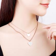 Женское Ожерелье из нержавеющей стали ожерелье серебряного цвета