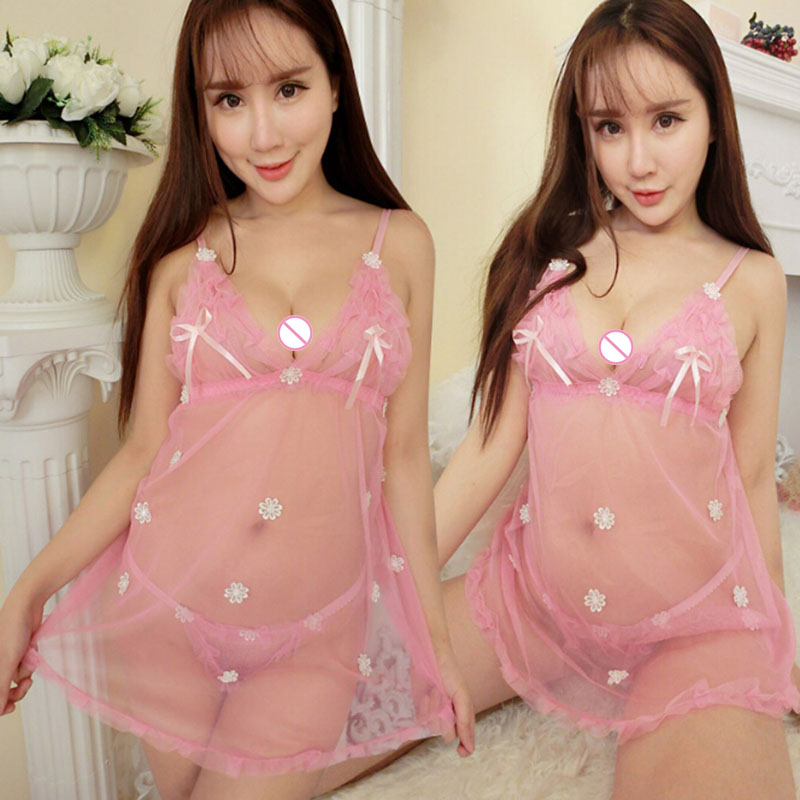 New Style Sweet Lace Sexy Lingerie Costumes Solid Babydolls Sex Underwear Porn Erotic Porn Lace For Sex Exotic Apparel